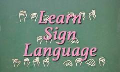 Belajar bahasa isyarat
